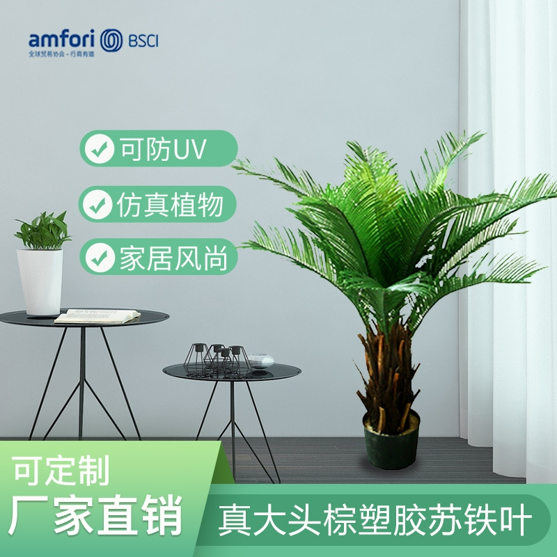 3 feet big head brown plastic cycad plant pot